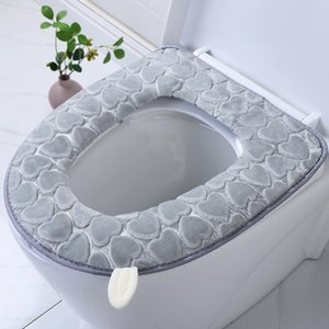 Universal Toilet Seat with Handle Thickened Cloud Blanket Fabric Zipper Cartoon Toilet Seat Household Toilet Seat Cover Closestool Cushion