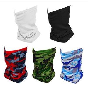 Maschere di riciclaggio esterno solido di colore mimetico Bandana Sun Protection Maschere sciarpa multifunzionale magica del turbante riutilizzabile Viso 8 disegni BT492