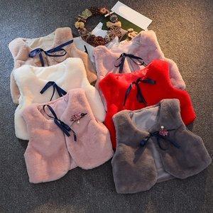 LILIGIRL 4.29 $ delle ragazze della maglia della pelliccia Giacche 2020 New Baby Autunno Bambini Coniglio capelli Gilet Gilet per i vestiti Outerwear