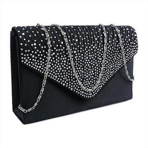 Ladies Large Evening Satin Diamante Ladies Sling Clutch Bag Party Envelope Bag Brand Bag Damen Taschen 15