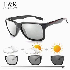 Polarisierte marke für verfärbung männer photochromic chamele sonne sonnenbrille zubehör fahren männer 2020 square mode brille thuren