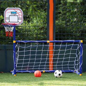 Mini Basketball Stands enfants Cadeau Football Football Goal Formation pratique Sports de plein air Accessoires enfants Basketball Jouet