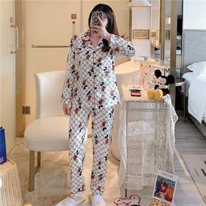 FZSLCYIYI Silk Satin Pajama Set Couples Long Sleeve Male Flower Printed Sleepwear Women Pajamas Pijama Pyjamas Mens Pajamas Homewear M-3X#642