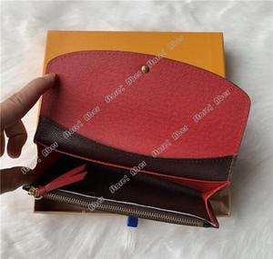 Excepcional de alta calidad de 100% cuero auténtico Monedero de mujer de la manera larga del cerrojo de la cremallera Monedero Pocke tarjeta monedero Box Hombres Mujeres carpetas de las señoras 60136