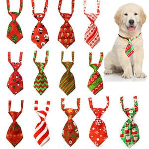 Toilettage de chiens Chat rayé Noeud papillon rayé animal Bowtie col de Noël pour animaux réglable Cravate pour Fête de soirée de mariage XD22634
