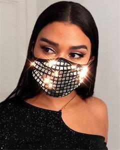 2020 Adatti paillettes personalità decorato maschera a due strati d'argento dorato paillettes rosso reticolo maschera lavabili riutilizzabili maschere protettive