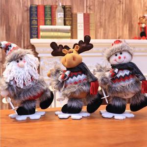 32 * 17cm Buon Natale Decorazione Toy Desktop Bambola del pupazzo di neve Babbo Natale Elk giocattoli natale ornamenti Capodanno regalo del capretto LJJP498
