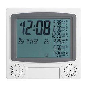 Allarme regalo musulmano Professinal digitale di alta qualità con sveglia islamica Azan preghiera LCD Alarm Clock