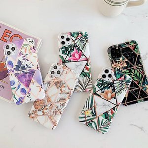 Vintage Electroplated Marble Flower Case for IPhone 12 11 Pro Max XR XS Max 7 8 Plus X S20 Ultra S10 S9 Plus P40 P30 Pro Lite Mate 30 20 Pro