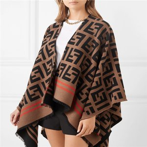 2020 Herbst-Winter-Strickjacke Frauen Thick Warm Plaid Poncho und Wrap Plus Size Strick Pashmina Kaschmirpullover Cape # 0039