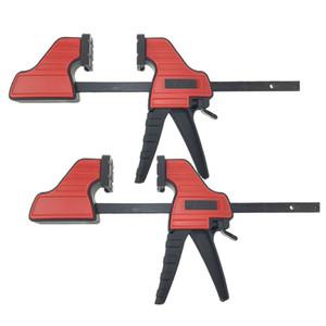 2pcs legno F-Bar Clamp, 4inch Bar clip di legno Carpenter tool Quick Grip Ratchet rilascio di compressione del legno utensili a mano fai da te