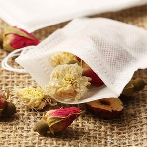 5.5x7cm Tela Teabags 100pcs / Terreno perfumado bolsa de té con la secuencia Heal sello ambientalmente desechables bolsas de té Filtro Tamices 0049Pack