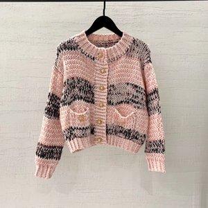 high end women girls knit t-shirt tops long sleeve sweater Cardigan jacket coat vest crew neck Jacquard sexy tank blouse shirts tee t03