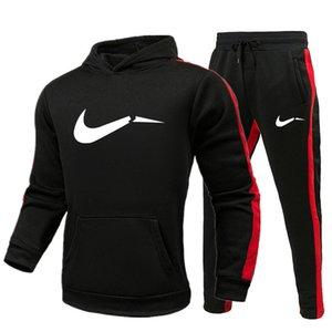 North Winter New Hot Sale Спортивная одежда 2020 Мужчины Лоскутная флис куртка + спортивные брюки для мужчин
