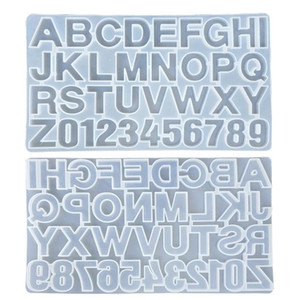 Small DIY Silicone Resin Mold for Letters Letter Mold Alphabet & Number Silicone Molds Number Alphabet Jewelry Keychain Casting