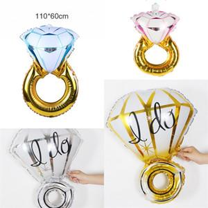 Foil Balões do partido do balão de aniversário suprimentos airballoons Diamond Rings alumínio Wedding Party Film Celebration Proposta Decoration1 8lq7 F2