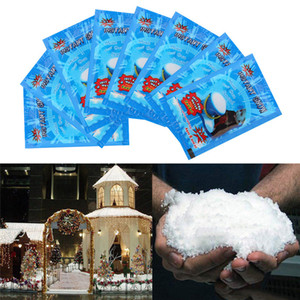 Snowflakes artificiels Fake Magic Magic Instank Snow Powder for Home Wedding Snow Noël Décorations de Noël Festival Fournitures FWB2000