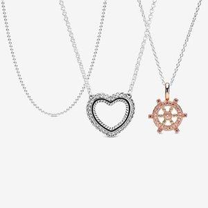 سلاسل 2021 925 فضة مهد الأفعى سلسلة نمط فتح القلب قلادة قلادة مصقول الكرة المجوهرات هدية