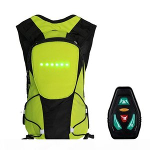 2018 New Wireless Remote Control Warning LED Light Turn Signal Light Backpack Safety Bicycle Warning Guiding Riding Bag