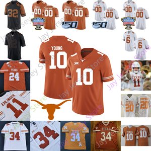 Texas Longhorns Football Jersey NCAA College Sam Ehlinger Keauontay Ingram Vince Young Roschon Johnson Devin Duvernay Mitchell Ossiai Johnson