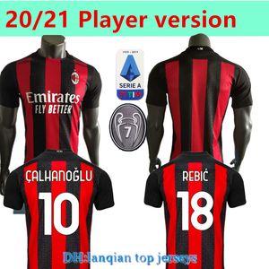 Spieler Version 20 21 AC Mailand Fussball Trikots 2020 2021 Ibrahimovic Tonali Paqueta Football Hemd 120. Jubiläum Bennacer Rebic Romagnoli