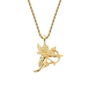 Exquisite Couples Pendant Necklace Trendy Unisex Jewelry Accessories Hot Sale Cupid And Arrow Metal Necklace