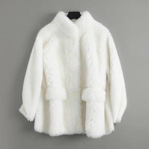 Real Coat Female Wool Jacket Autumn Winter Coat Women Clothes 2019 Korean Vintage Sheep Shearling Long Tops