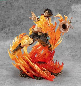 new 25cm One Piece Ace Fire Fist PVC Action Figure One Piece Anime PortgasD Ace 15th Anniversary Max Collection Figurine Toy T200413