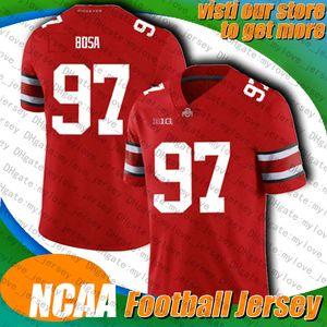 NCAA Ohio Buckeyes University 97 Nick Bosa 9 Joe Burrow Jersey Tyler Eifert 18 A.J. Jerseys verde joe mixon 85 tee higgins jersey