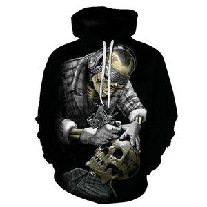 BIAOLUN Смешные Череп 3D Толстовка Мужчины Женщина Толстовка Унисекс костюмы вскользь Streetwear капюшон Марка пуловер