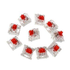 10шт 3 Pin Механической клавиатуры Переключатель Красной Замена для Gateron Cherry MX