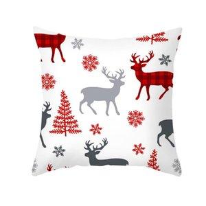 Hot sale Christmas Cushion Cover Pillowcase Sofa Cushion Pillow Cases Seat Car Home Decor pillow cover Christmas Decoration For Home