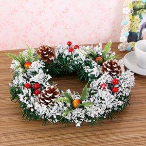 New 2020 Christmas Garland Decorations Rattan Festive Party Wedding Rattan Decor DIY Wreath Christmas Garland Door Wall Ornament