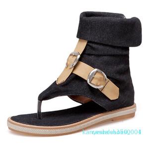 CDPUNDARI Ladies Denim Flat sandals for women Platform Sandals summer shoes woman Gladiator sandalias mujer 2049 k04