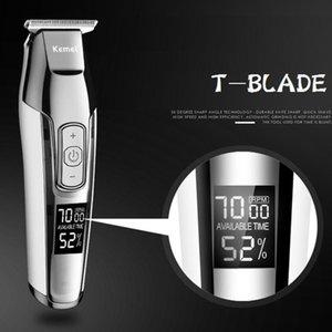 Kamei Clipper Usb Kemey Kmei Kenar Güçlü Tıraş Profesyonel Dijital Pelos aparador Saç De Kemei Makinesi Trimer embHQ bdesports