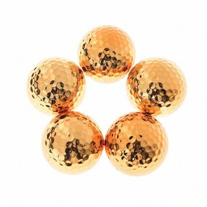 1Pc 2Pcs High quality Fancy Match Opening Goal Best Gift Durable Construction for Sporting Events New Plated Golf ball Z7VN#