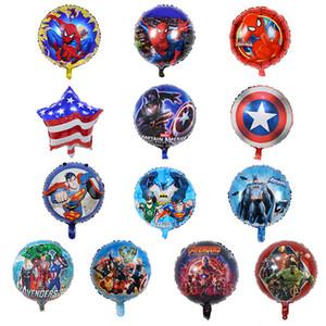 Дети мстители шары игрушка надувных Чуда дня рождения шарики украшение поставки пузырь гелием воздушный шар фольги 18 дюймов