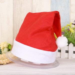 Christmas decorations Ordinary non-woven fabric Santa Hat Red Wholesale products Children's adult hats Festive & Party Supplies