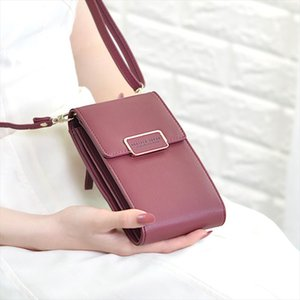 New 2020 Brand Long Vintage Women Messenger Shoulder Straps Bag Women Cell phone Pocket Handbag Ladies Phone Purse