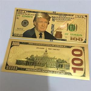 Donald Trump Dollar US-Präsident Banknote Goldfolie Bills Gedenkmünze Crafts Amerika General Election Zubehör Papiergeld 7 Styles