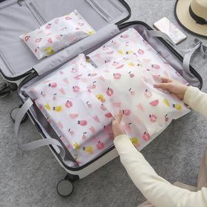 Transparent Fashion Travel Cosmetic Bag Kawaii Waterproof Fruit Make Up Case Makeup Beauty Wash Organizer Toiletry Storage Box