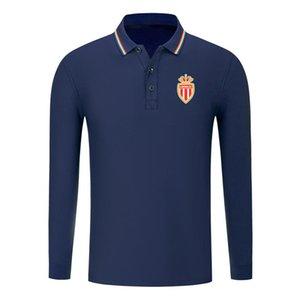 в монако FC 2020 Мужская футболка с длинным рукавом Мода Спорт Футбол Поло POLO Shirt Trend High отворотом ПОЛО рубашка дела