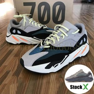 2020 Wave Runner 700 Men Running Shoes 700 Kanye West Geode Static Mauve Salt Soild Grey Fashion Women Sport SneakersLMK1