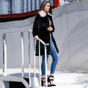 Winter Coat Women High Quality Faux Pocket Fur Coat Luxury Long Fur Jacket Loose Overcoat Teddy Thick Warm Plush Jacket