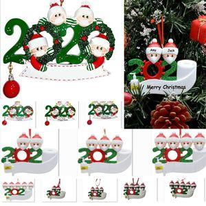 زخرفة عيد الميلاد 2020 الحجر شجرة عيد الميلاد الشنق زخرفة قلادة الحزب الاجتماعي النأي سانتا كلوز مع قناع الأسرة of1-7 HH9-3274