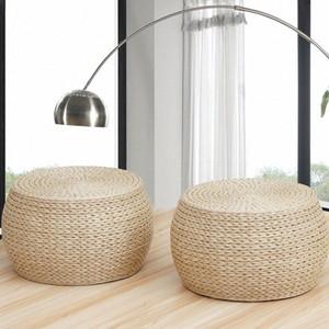 Rush Herbe Ronde étage Coussins futon japonais méditation Coussin Seat Tabouret Yc70 Cercle Épaississement #