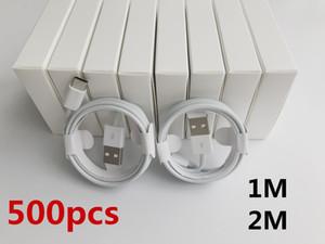 500 unids 7 generaciones Original OEM Calidad 1M / 3FT 2M / 6FT Cable de sincronización de datos de datos USB con nueva caja de venta al por menor