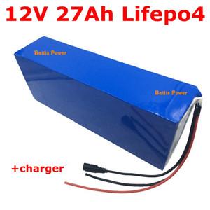12V 27Ah LiFePO4 bateria de lítio pacote 30Ah 25AH 26650 com BMS para o inversor painel solar equipamentos portáteis luz de rua