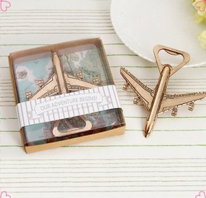 10pcs Shabby Chic Vintage Airplane Beer Bottle Opener Travel Wedding Favors Party Gifts Rustic Wedding Souvenirs for guests