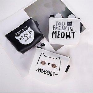 Mini cosmétiques Sac Organisateur Voyage portable Sac cosmétique multifonctionnel Makeup Case Cat Impressions Petit Toiletry Pouch Wash bourse